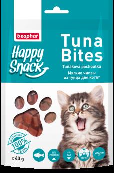 Beaphar Happy Snack Tuna Bites Мягкие чипсы из тунца для котят 40г
