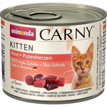 Animonda Carny Kitten кон.д/котят с Говядиной и сердцем Индейки 200г
