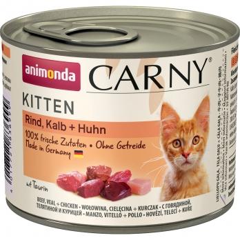 Animonda Carny Kitten кон.д/котят с Говядиной, Телятиной и Курицей 200г