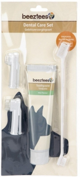 Beeztees Набор для ухода за зубами д/собак (зубная паста 100г+щетка+щетка-напальчник-2шт)