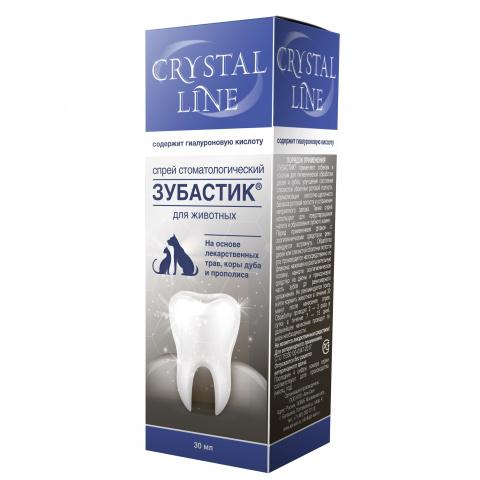 CRYSTAL LINE ЗУБАСТИК Спрей стоматологический для животных, 30 мл