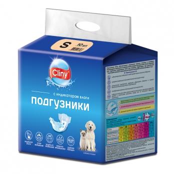 Cliny Подгузники для собак и кошек S 3-6кг 1шт