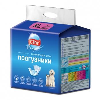 Cliny Подгузники для собак и кошек XL 15-30кг 1шт