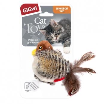 GiGwi Игрушка для кошек Птичка со звуковым чипом 13см