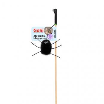 GoSi 07318 Игрушка д/кошек Махалка Паук-2 натуральная норка этикетка флажок