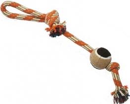 N1 Игрушка для собак Грейфер веревка с мячом 37см
