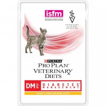 Pro Plan Veterinary diets DM консервы корм для кошек при диабете с курицей 85 г