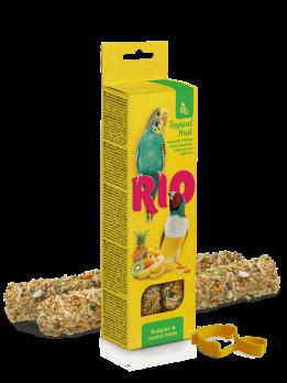 Рио Палочки для волнистых попугаев и экзотов с Тропическими фруктами 2шт*40г