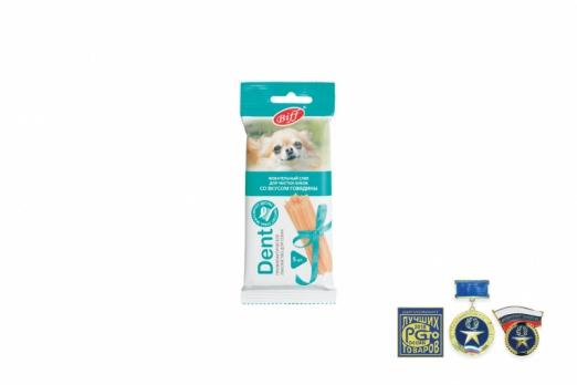 TiTBiT Жевательный снек для собак DENT со вкусом говядины, 5шт (для мелких пород)