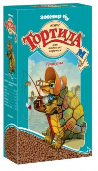 Зоомир Тортила гранулы для водяных черепах 90г
