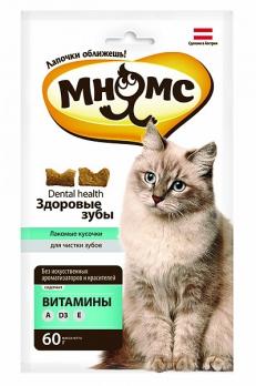 Мнямс хрустящие подушечки для кошек
