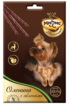 Мнямс Деликатес лакомые палочки 13,5 см для собак с олениной и яблоком 3х11 г