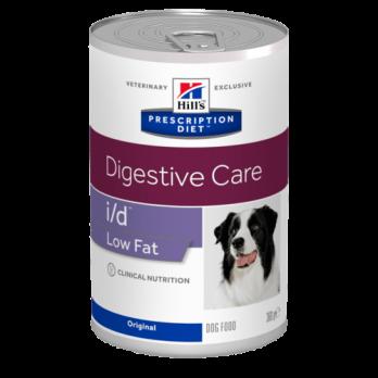 Hill's I/D Low Fat консервы для собак низкокалорийные, при проблемах ЖКТ 360г
