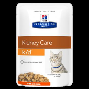 Hill's K/D пауч для кошек, для лечения почек, курица, 85 г