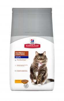 Hill's Hairball Care 7+ сухой корм для пожилых кошек 7+, для выведения шерсти, курица 1,5 кг
