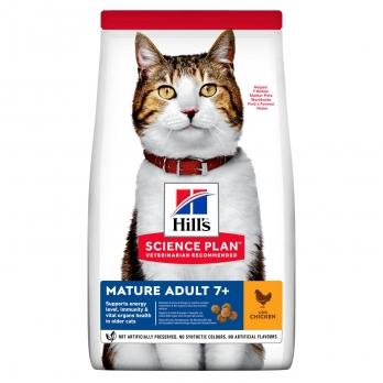 Hill's Mature Adult 7+ сухой корм для пожилых кошек 7+, курица