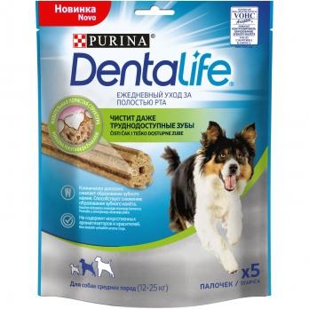 Purina DentaLife для собак средних пород 115 г