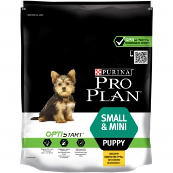 Pro Plan Small&Mini Puppy для щенков мелких и карликовых пород с комплексом OPTISTART® с курицей и рисом