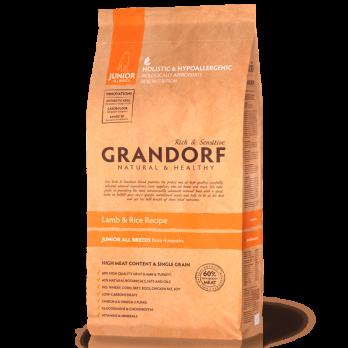 Grandorf Junior сухой корм для щенков с 3х месяцев, Ягненок с рисом