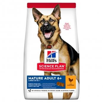 Hill's сухой корм для пожилых собак крупных пород  6+, курица 12 кг