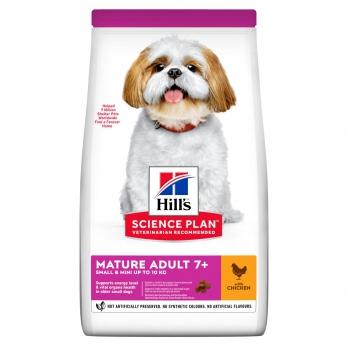Hill's Small & Miniature Mature Adult 7+ сухой корм для пожилых собак 7+ декоративных пород, курица и индейка