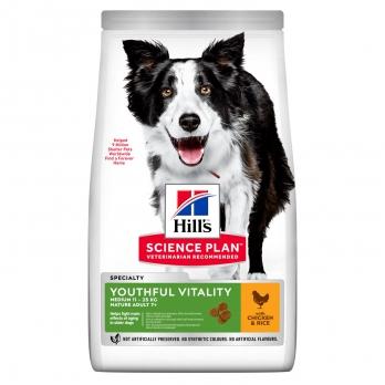 Hill's Youthful Vitality сухой корм для пожилых собак всех пород 7+, курица