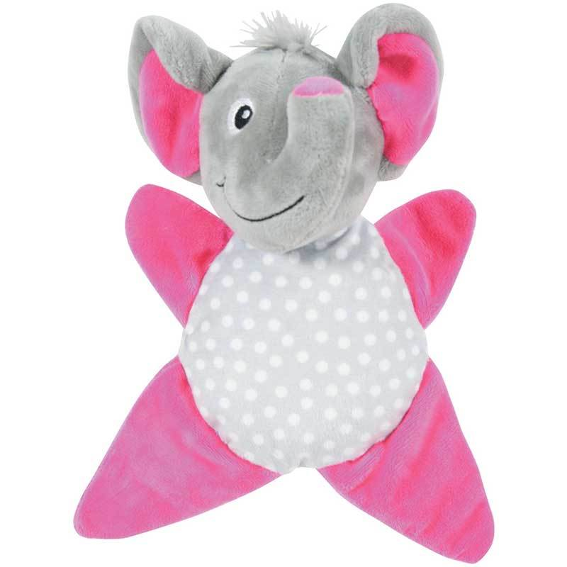 Золюкс Игрушка плюшевая для щенков, слоник-звездочка (серо-малиновая)(480072GRI)
