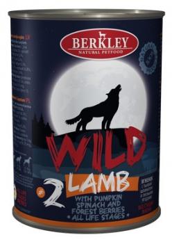 Berkley Wild консервы для собак №2 Ягненок с тыквой, шпинатом и лесными ягодами 400г