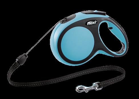 Flexi Рулетка-трос для собак до 20кг, 8м, голубая (New Comfort M Cord 8 m, blue)