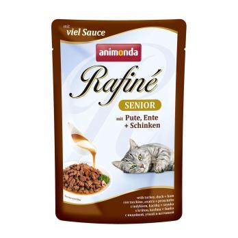 Animonda Rafinе Senior пауч д/кошек старше 7 лет с индейкой, уткой и ветчиной 100г