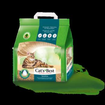 Cat's Best Sensitive Наполнитель древесный комкующийся 8л*2,9кг