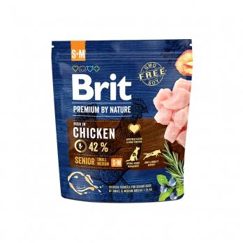 Brit Premium By Nature Senior S+M сухой корм для пожилых собак мелких и средних пород 15кг