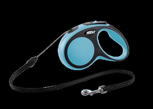 flexi рулетка New Comfort S (до 12 кг) трос 5 м черный/синий