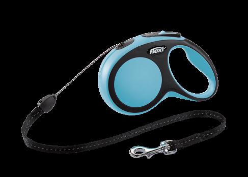 Flexi Рулетка-трос для собак до 12кг, 8м, голубая (New Comfort S Cord 8 m, blue)