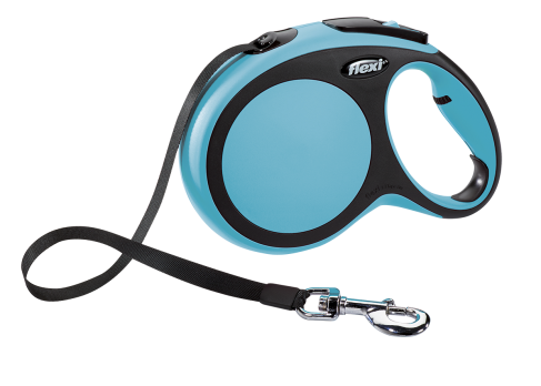 Flexi Рулетка-ремень для собак до 50кг, 8м, синяя (New Comfort L Tape 8 m, blue)