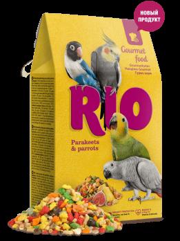 Рио Гурмэ корм для средних и крупных попугаев 250г