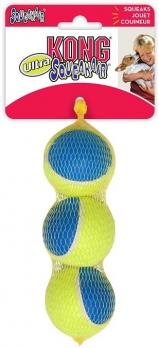 KONG игрушка для собак Ultra Squeak мячик средний 3 шт. в уп. 6 см
