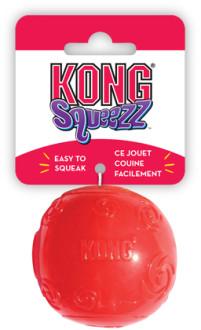 KONG игрушка для собак Сквиз Мячик резиновый с пищалкой, цвета в ассортименте