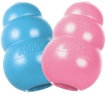 KONG Puppy игрушка для щенков классик, цвета в ассортименте: розовый, голубой