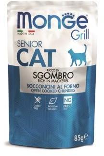Monge Cat Grill Pouch паучи для пожилых кошек эквадорская макрель 85г