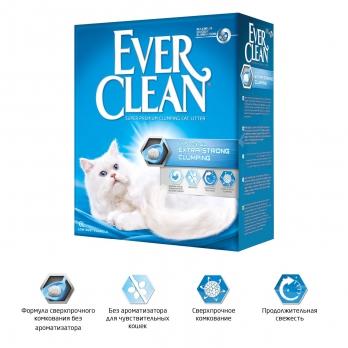 Ever Clean Extra Strong Clumping Unscented Наполнитель без ароматизатора (голубая полоска)