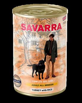 Savarra Adult All Breeds консервы для собак Индейка/рис 395г