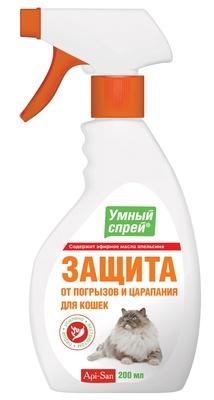 Apicenna Умный Спрей защита от погрызов и царапания для кошек 0,2