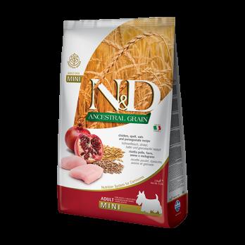 Farmina N&D ANCESTRAL GRAIN для собак MINI курица, спельта, овес,гранат