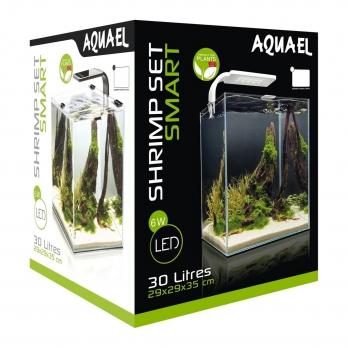 Креветкарий SHRIMP SET SMART PLANT II 30 черный, (30х30х35) укомплектован светодиодным светильником,фильтром, нагревателем
