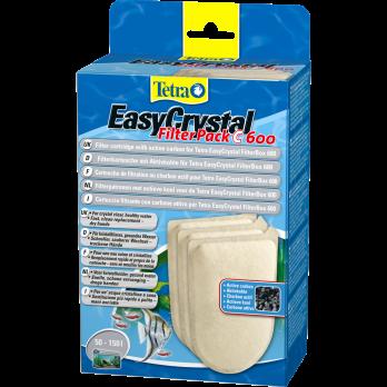 Tetra EC 600C фильтрующие картриджи с углем для внутреннего фильтра EasyCrystal 600 3 шт.