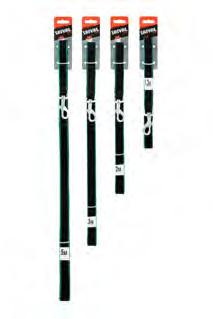Saival Premium Поводок «Цветной край»15мм длина 3,0м зелёные края