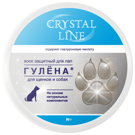 Apicenna Crystal Line Гулёна Воск защитный для лап 90г