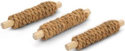 Beeztees Игрушка для грызунов Палочки деревянные обмотанные кокосовой веревкой 3шт*9*9*10см