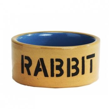 Beeztees Миска керамическая для кролика бежево-голубая 11,5см